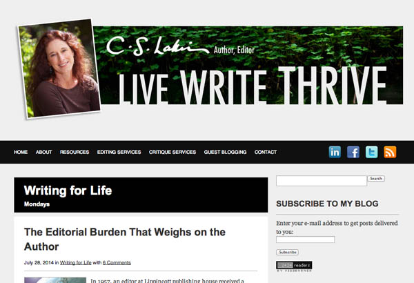 C S Lakin's blog Live Write Thrive