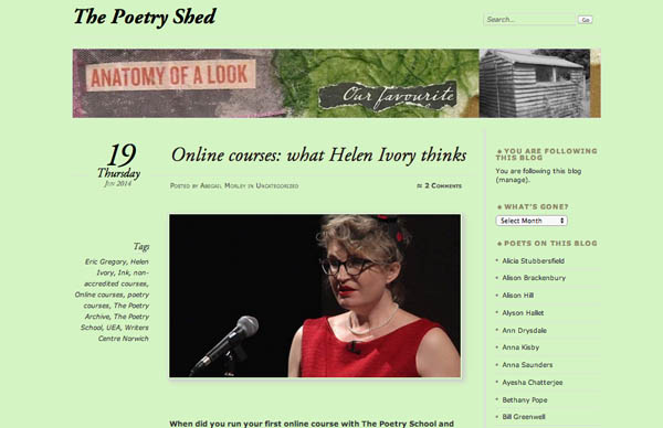 Abegail Morley's The Poetry Shed