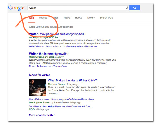 search results - 'writer'