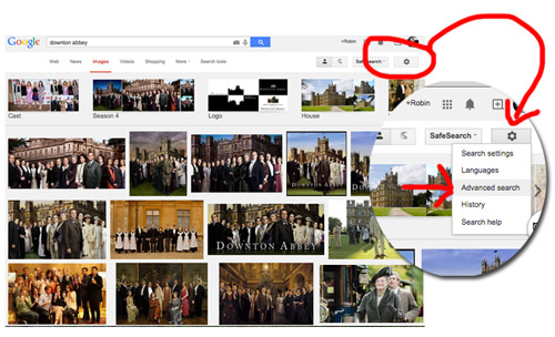 Image search on Google images