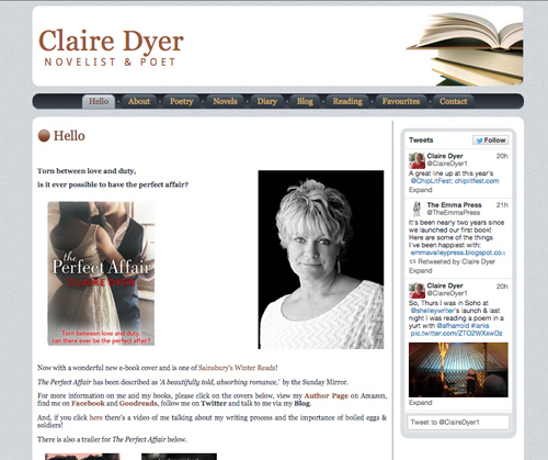 Claire Dyer novelist & poet - homepage