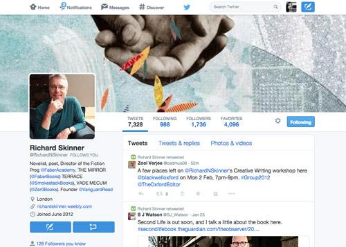 Richard Skinner on Twitter