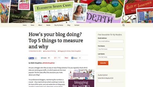 Elizabeth Spann Craig - guest blog post by Robin Houghton