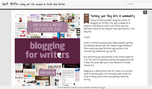 Erynn Newman Just Write - guest blog by Robin Houghton