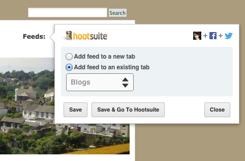 Add feeds to Hootsuite 2