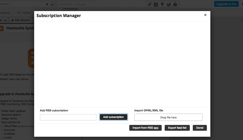 Hootsuite subscription manager 1