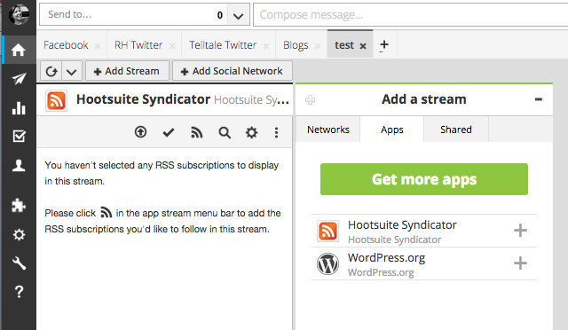 Hootsuite - add a stream